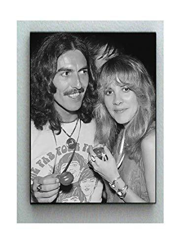 George Harrison Poster - Telesca Rare Framed George Harrison Stevie Nicks 1978 Vintage Photo. 8.5 X 11 Jumbo Giclée Print