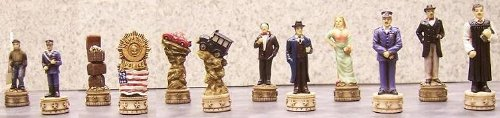 Cops and Robbers Chess Pieces - Polyresin Chess Piece