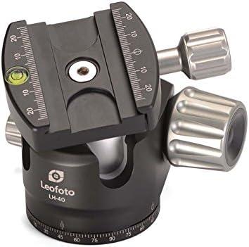 LEOFOTO LH-40 40mm Low Profile Ball Head Arca//RRS Compatible w Independent Pan Lock