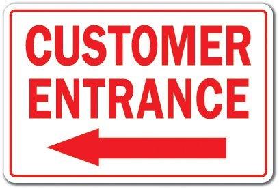 Sinluen Letrero de Metal para la Entrada del Cliente a la ...