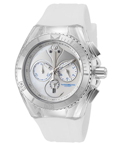 Technomarine Tm-115068 Women's Cruise Dream Chrono White Satin And Mop Dial Watch