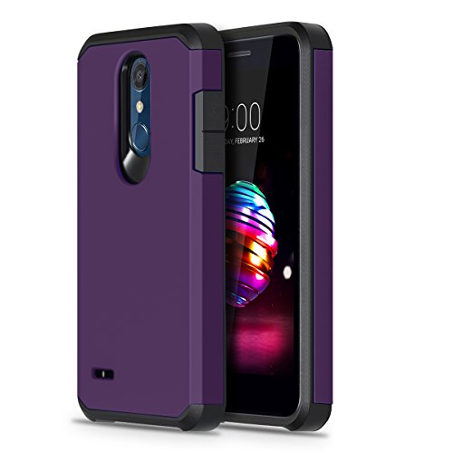 LG K30 Case, LG Premier Pro LTE Case, LG K10 2018 Phone Case, OEAGO Hybrid Shockproof Drop Protection Impact Rugged Heavy Duty Dual Layer Case Armor Cover - Purple