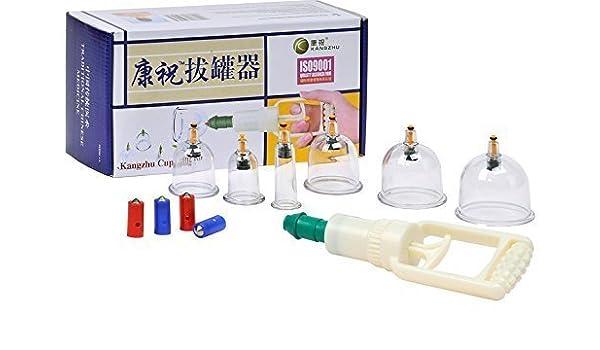 snhua Tong 6 transparente Chino Masaje schröpfen de plástico con bomba Set de kangzhu: Amazon.es: Hogar