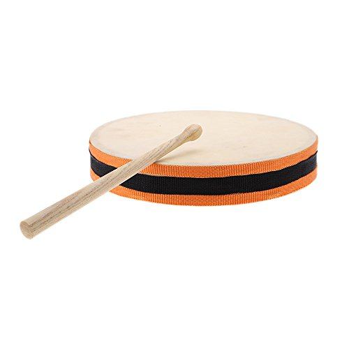 Andoer 8″ Wood Hand Drum Dual Head with Drum Stick Percussion Musical Instrument