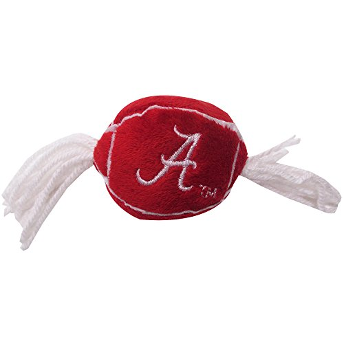 Pets First NCAA Alabama Crimson Tide Catnip Toy in Football Shape with Team Logo in Vibrant Team Color