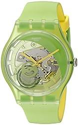 Swatch Men's SUOG110 Analog Display Quartz Green Watch
