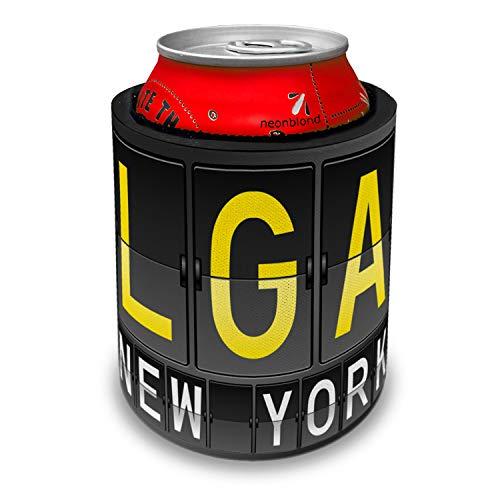 NEONBLOND LGA Airport Code for New York Slap Can Cooler Insulator Sleeve