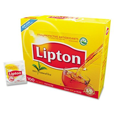 Lipton Products - Lipton - Tea Bags, Regular, 100/Box - Sold As 1 Box - Tea bags for hot or iced tea. - Brisk and refreshing. -