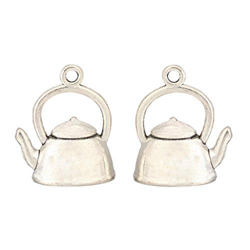 10 x Teapot Charms 17x14mm Antique Silver Tone for Bracelets Necklace Earrings #MCZ313 Clasps Square Antique Silver Bracelets