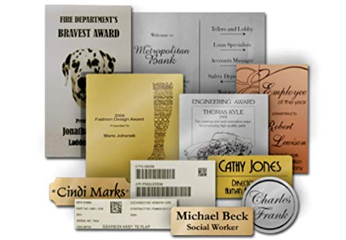 Personalized Laser Engraved Label Plate Service - 6x6 or ()