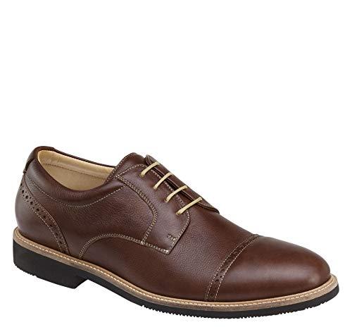 Johnston & Murphy Men's Barlow Cap Toe Shoe Tobacco Full Grain 9.5 M US ()