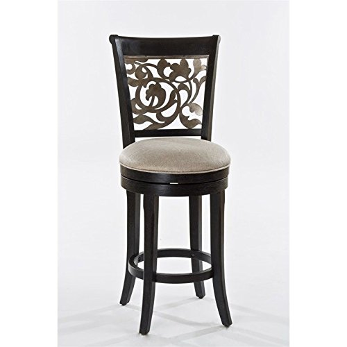 - Hillsdale Furniture Swivel Counter Stool in Gold Metallic Silver Finish