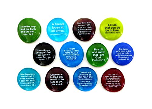 Scripture Stone (Lifeforce Glass Scripture Glass Stones, 12 of Your Favorite Inspiring Bible Verses on Translucent and Opaque Rocks, Set II.)