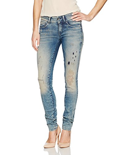 G-Star Raw Women's Midge Cody Mid-Skinny Jean in GAVI Superstretch, Lt Aged Restored 120, - Womens G-star Clothing