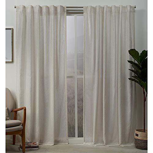 Exclusive Home Curtains Muskoka Panel Pair, 54x96, Natural ()