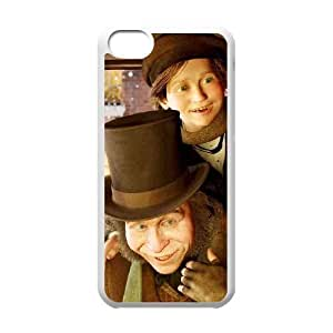 iPhone 5c Cell Phone Case-White Christmas Carol Plastic Phone Case Cover For Men CZOIEQWMXN19959