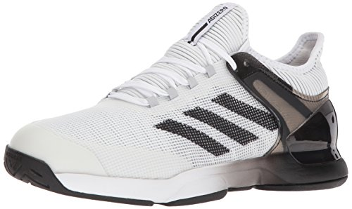 adidas Performance Men's Adizero Ubersonic 2 Tennis Shoe, White/Core Black/Grey Two, 10.5 M US