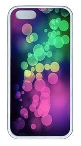 Apple iPhone 5S Cases - Bokeh light multicolor TPU Hard Plastic Case for iPhone 5/5S - White