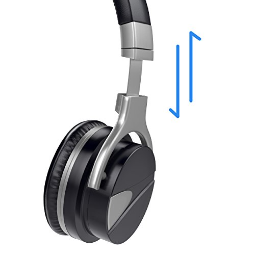 USTEK Wireless Headphones, Active Noise Cancelling Headphones Bluetooth Headphones with Mic Deep Bass Wireless Headphones,Over Ear Bluetooth Stereo Headphones with Microphone Adjustable Earphones ANC by USTEK (Image #5)