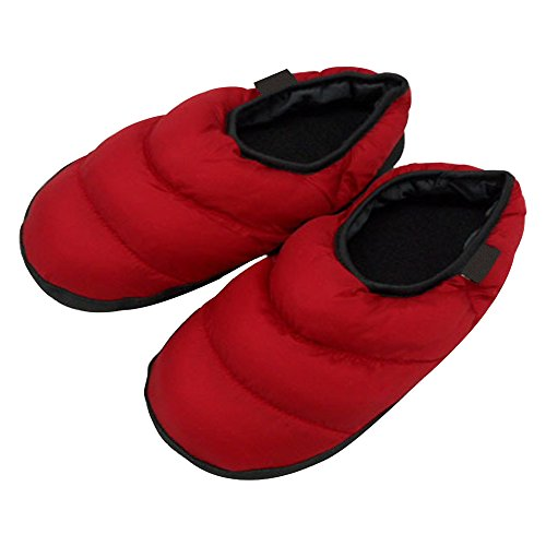 Down Red and Women Slipper skid Anti Warm Keep Slippers Shoes Home Indoor Winter Men's Eastlion 56ZzWqv5