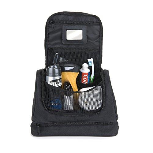 SnugPak lujo bolsa de lavado, Unisex, negro negro