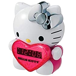 HELLO KITTY KT2064-MBY AM/FM Projection Clock Radio - NEWEST MODEL