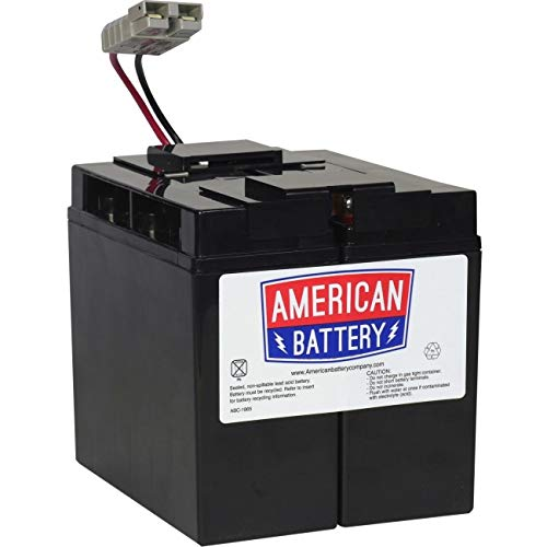 RBC7 UPS Replacement Battery  for APC By American Battery (Period Twice A Month After Plan B)