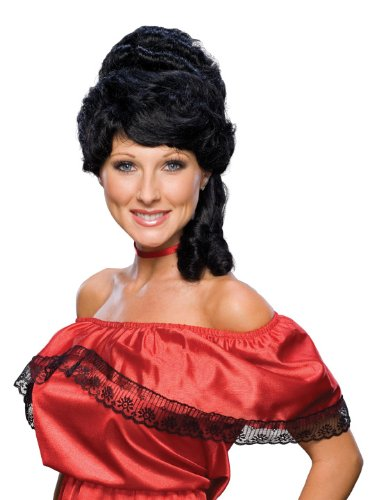 Ladies Colonial Wig (Rubie's Costume Colonial Woman Wig, Black, One Size)