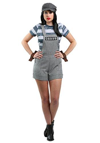 Women's Chain Gang Prisoner Costume Large
