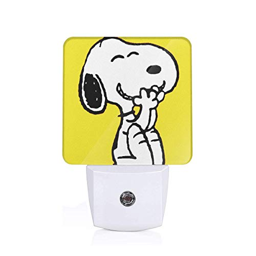 Xzcxyadd Wallpaper_Snoopy_1 Night Light for Kids,0.5W Plug-in,Manual On/Off, Incandescent,Warm White, Ideal for Bedroom,Bathroom, Hallway, Stairs, Pantry and Laundry Room