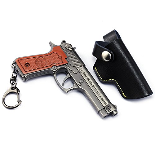 chouge games Eat Chicken 3.5'' metal P18C Pistol Model Figure Arts Toys Collection Keychains Gift within Holster by chouge (Image #8)