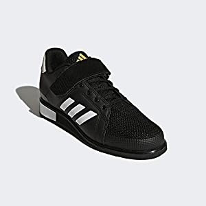 adidas, Power Perfect III Shoes, Men's Shoes, BlackWhiteMatte Gold, 8 US