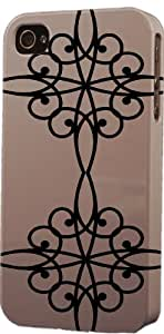 Grey Wrought Iron Pattern Dimensional Case Fits Apple iPhone 5c
