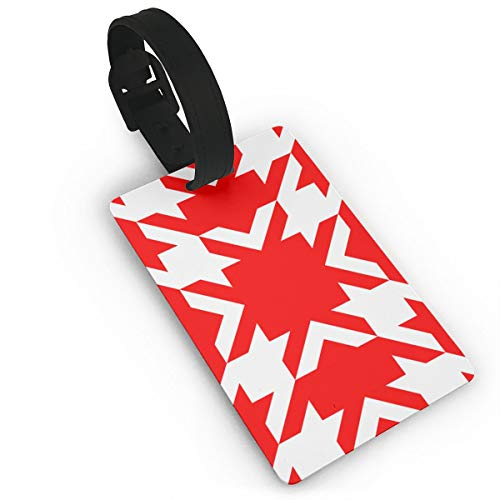 Three Inch Red and White Houndstooth Wallpaper Luggage Tags Label Cruise Instrument Bag Case Tags