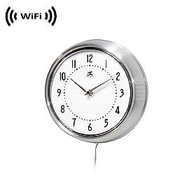 Wireless Spy Camera with WiFi Digital IP Signal, Recording & Remote Internet Access (Camera Hidden in a Wall Clock) (Silver)