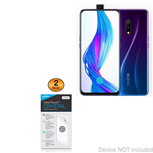(BoxWave Realme X Master Edition Screen Protector, [ClearTouch Crystal (2-Pack)] HD Film Skin - Shields from Scratches for Realme X Master Edition)