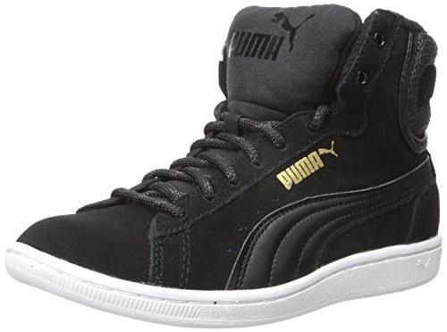 Puma WoMen Vikky Mid Twill Sfoam Fashion Sneaker, Black, US Puma Black/Puma Black