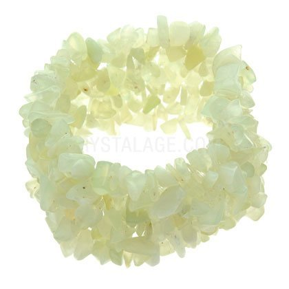 New Jade Gemstone Chip Cuff Bracelet