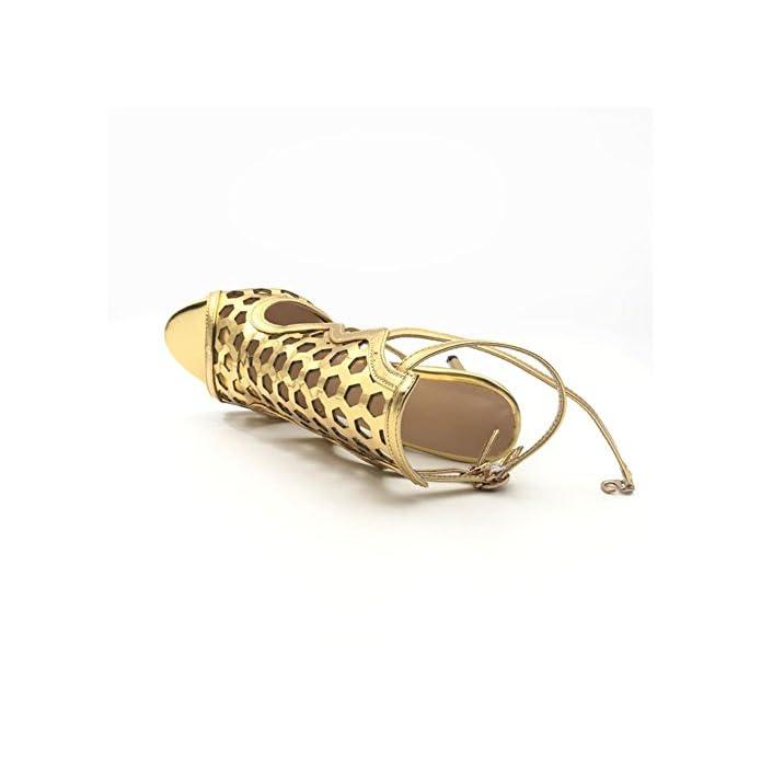 Zpl Donna Sbirciare Dito Del Piede Stiletto Sexy Oro Alto Tacco Sandali Scarpe Festa Ballo Di Fine Anno Nuziale Sera Dimensione Oro Eur 41 uk 7 5-8