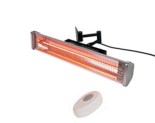 AZ Patio Heaters Electric Patio Heater with Remote, Wall Mounted (Electric Patio Heating)
