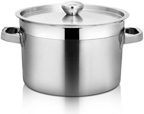 YONGLIANG キッチン用品ステンレススープスープポット50cm大容量ハーフバレル(耳付き)商業スープポットキャティーンホテルスープポット