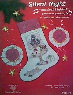 Musical Ornament Stocking - Silent Night: Musical Lighted Christmas Stocking & Musical Ornaments (Counted Cross Stitch Designs)