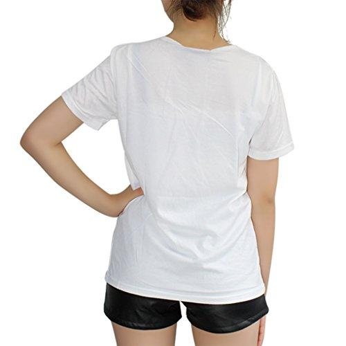 Manga T Mujer Landove Casual Color Sólido Shirt Impresión Elegantes Blusa Verano Top Camisa Estampada 06 Corta Camisetas 5gByR1qwg