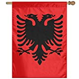 NUTAER Albanian Eagle Vertical Flag Outdoor Garden Flag Decorative Home House Flag 27'' W X 37'' H