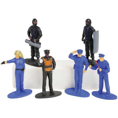 12 Figurines (US Toy Police Figurines (12 Piece))