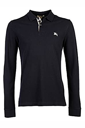 Burberry t-Shirt Hombre Manga Larga Cuello de Polo BLU: Amazon.es ...