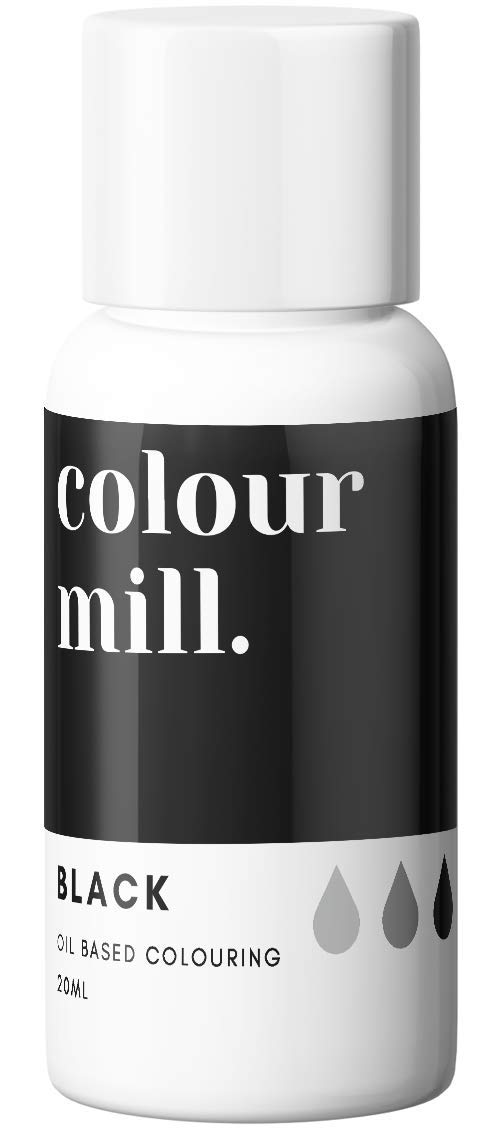 Colour Mill Oil-Based Food Coloring, 20 Milliliters Black