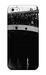 Unique Design Iphone 5/5s Durable Tpu Case Cover PHot Sellingography Black And White