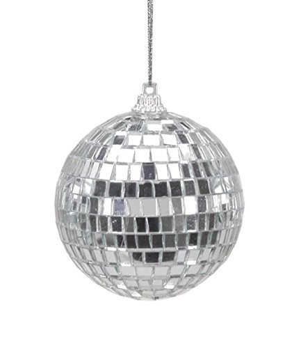 Christmas Tree Decorations Silver Mirror Ball Ornaments - 6 Pieces Per Package - Diameter 2.5 In.