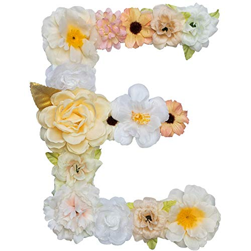 (Artificial Champagne Floral Decorative Letters, 7.9